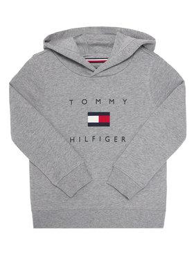 TOMMY HILFIGER TOMMY HILFIGER Mikina Logo KB0KB06142 M Šedá Regular Fit