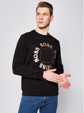 Boss Boss Sweatshirt Salbo Circle 50426220 Schwarz Regular Fit