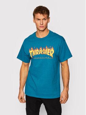 Thrasher Thrasher T-shirt Flame Blu Regular Fit