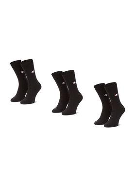 Champion Champion Комплект 3 чифта дълги чорапи мъжки CH0008ST-8VA Черен