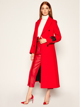MSGM MSGM Demisezoninis paltas 2941MDC15 207521 Raudona Regular Fit