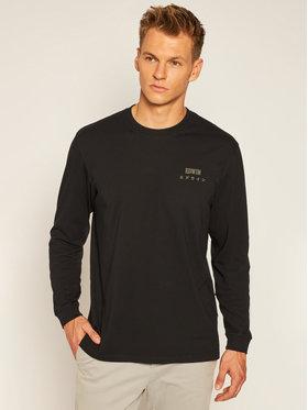 Edwin Edwin Тениска с дълъг ръкав Logo Chest I028563 TJ26J94 8967 Черен Regular Fit