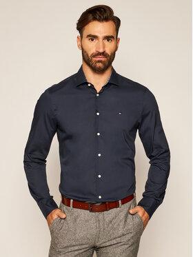 Tommy Hilfiger Tailored Tommy Hilfiger Tailored Košile Poplin Classic TT0TT07821 Tmavomodrá Slim Fit