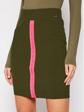 Guess Guess Φούστα mini Tulay W1RD04 K8RT2 Πράσινο Slim Fit