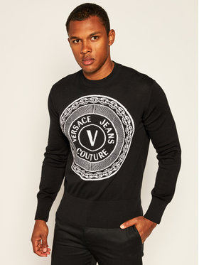 Versace Jeans Couture Versace Jeans Couture Пуловер B5GZA813 Черен Regular Fit