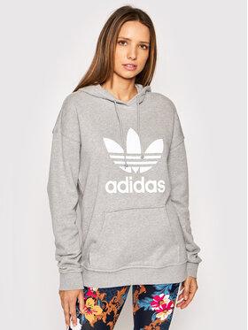 adidas adidas Sweatshirt adicolor Trefoil H33589 Grau Regular Fit
