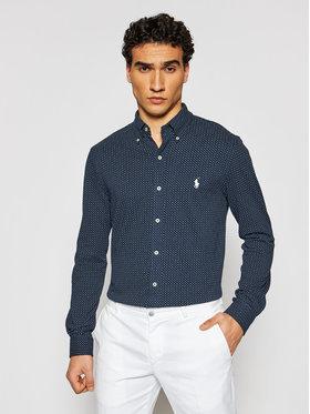 Polo Ralph Lauren Polo Ralph Lauren Риза Print Featherweight Mesh 710835216001 Тъмносин Regular Fit