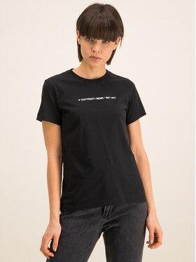 Diesel Diesel T-Shirt T-Sily-Copy T 00SBGH 0HERA Czarny Regular Fit