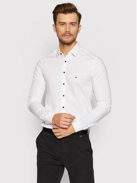 Calvin Klein Calvin Klein Košile Logo Stretch K10K107346 Bílá Extra Slim Fit