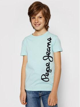 Pepe Jeans Pepe Jeans T-Shirt Waldo Short PB501279 Zielony Regular Fit