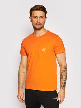 Calvin Klein Jeans Calvin Klein Jeans Tričko J30J317294 Oranžová Slim Fit