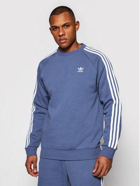 adidas adidas Bluză 3-Stripes GN3482 Albastru Regular Fit