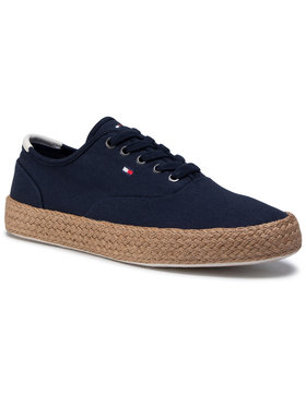 Tommy Hilfiger Tommy Hilfiger Espadrile Core Oxford Twill Jute Sneaker FM0FM02883 Bleumarin