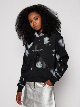 Calvin Klein Jeans Calvin Klein Jeans Mikina Logo Hoodie J20J214985 Černá Loose Fit