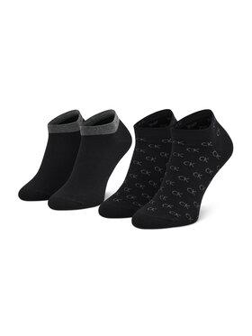 Calvin Klein Calvin Klein Súprava 2 párov členkových pánskych ponožiek 701218715 Čierna