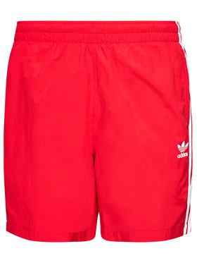 adidas adidas Úszónadrág 3-Stripe GN3526 Piros Regular Fit