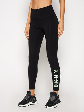 DKNY Sport DKNY Sport Leggings DP0P2524 Fekete Slim Fit
