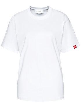 Victoria Victoria Beckham Victoria Victoria Beckham T-Shirt Single 2121JTS002393A Bílá Regular Fit