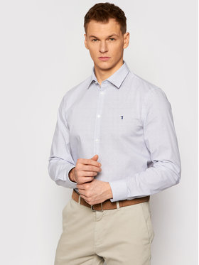 Trussardi Trussardi Koszula Popeline 52C00210 Biały Slim Fit