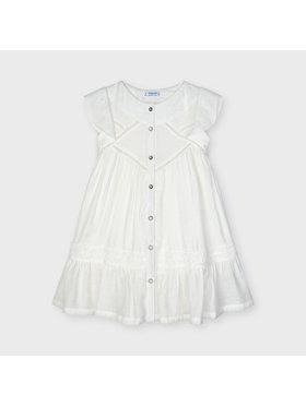Mayoral Mayoral Ежедневна рокля 3932 Бял Regular Fit