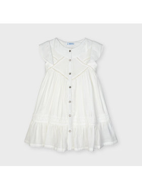 Mayoral Mayoral Φόρεμα καθημερινό 3932 Λευκό Regular Fit