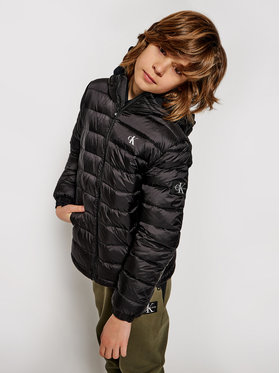 Calvin Klein Jeans Calvin Klein Jeans Vatovaná bunda Light Down Jacket IB0IB00554 Čierna Regular Fit