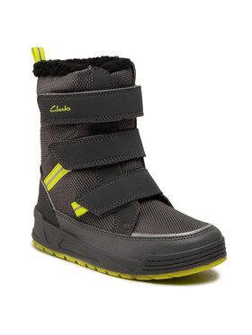 Clarks Clarks Bottes de neige Jumper Three K 261558857 Gris