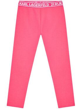 KARL LAGERFELD KARL LAGERFELD Legginsy Z14148 S Różowy Slim Fit