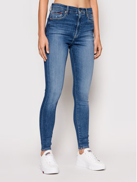 Tommy Jeans Tommy Jeans Traperice Sylvia DW0DW10267 Tamnoplava Super Skinny Fit