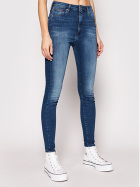 Tommy Jeans Tommy Jeans Traperice Sylvia DW0DW09215 Plava Super Skinny Fit