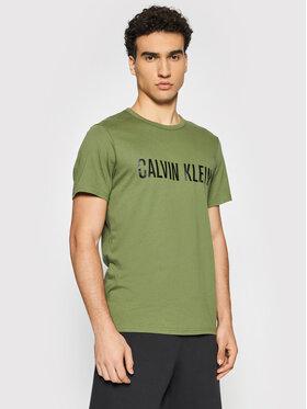 Calvin Klein Underwear Calvin Klein Underwear T-Shirt Crew Neck 000NM1959E Zielony Regular Fit