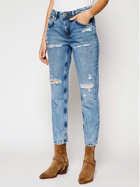 Pepe Jeans Pepe Jeans Blugi Mom Fit Violet PL201742W Albastru Mom Fit