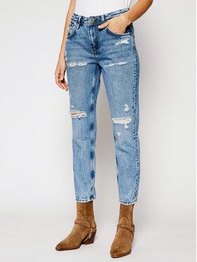Pepe Jeans Pepe Jeans Jeansy Mom Fit Violet PL201742W Niebieski Mom Fit