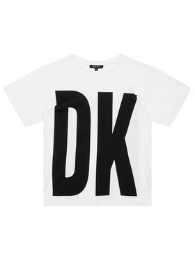 DKNY DKNY Póló D35Q84 D Fehér Regular Fit