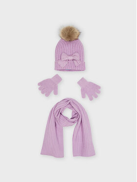 Mayoral Mayoral Комплект шапка, шал и ръкавици 10155 Виолетов