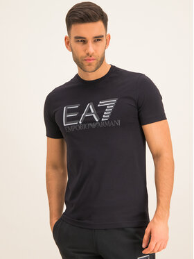 EA7 Emporio Armani EA7 Emporio Armani T-Shirt 3HPT62 PJ03Z 1200 Μαύρο Slim Fit