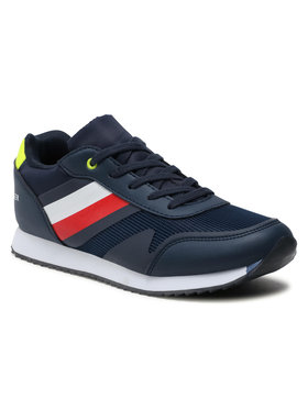 Tommy Hilfiger Tommy Hilfiger Sneakersy Low Cut Lace-Up Sneaker T3B4-31097-1176 S Granatowy