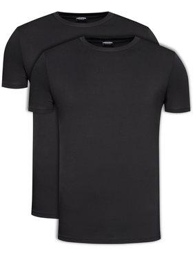 Dsquared2 Underwear Dsquared2 Underwear 2-dielna súprava tričiek DCX200050 Čierna Regular Fit