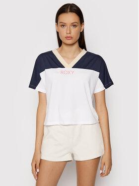 Roxy Roxy T-shirt Trying Your Luck ERJZT05128 Blanc Regular Fit