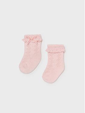 Mayoral Mayoral Vysoké dětské ponožky 9427 Růžová
