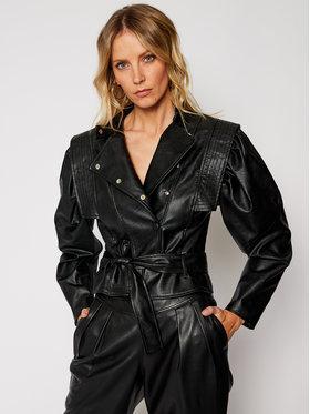 Imperial Imperial Kožená bunda VHA3ABD Čierna Slim Fit