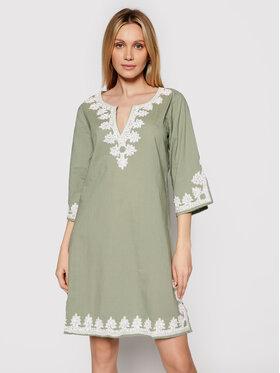 Iconique Iconique Vestito da giorno Kaftan IC21 043 Verde Regular Fit