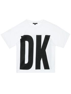 DKNY DKNY T-Shirt D35Q84 S Biały Regular Fit