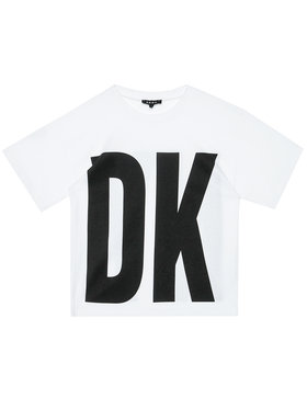 DKNY DKNY T-shirt D35Q84 S Bianco Regular Fit