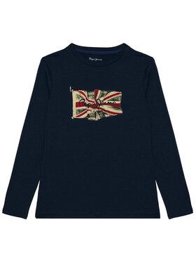 Pepe Jeans Pepe Jeans Bluse Flag Logo PB502603 Dunkelblau Regular Fit