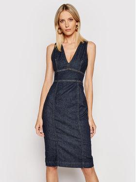Guess Guess Sukienka jeansowa Isabela W1GK17 D4CS1 Granatowy Slim Fit
