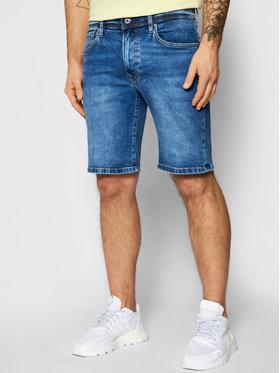 Pepe Jeans Pepe Jeans Džinsiniai šortai Cane PM800543 Tamsiai mėlyna Slim Fit