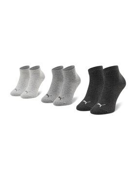 Puma Puma Lot de 3 paires de chaussettes basses unisexe 271080001 Gris