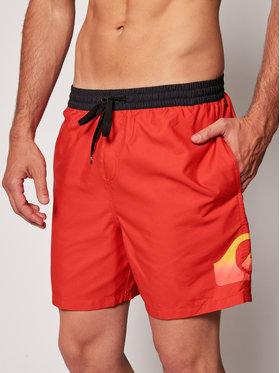 Quiksilver Plavecké šortky Dredge Volley 17 EQYJV03575 Červená Regular Fit