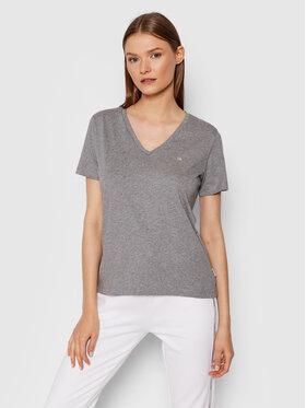 Calvin Klein Calvin Klein T-Shirt Small Logo K20K203085 Šedá Regular Fit